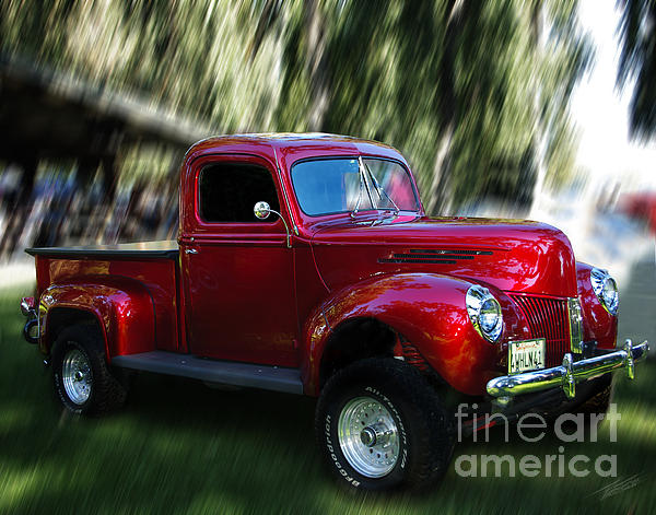 4x4 Photograph - 1941 Ford Truck by Peter Piatt