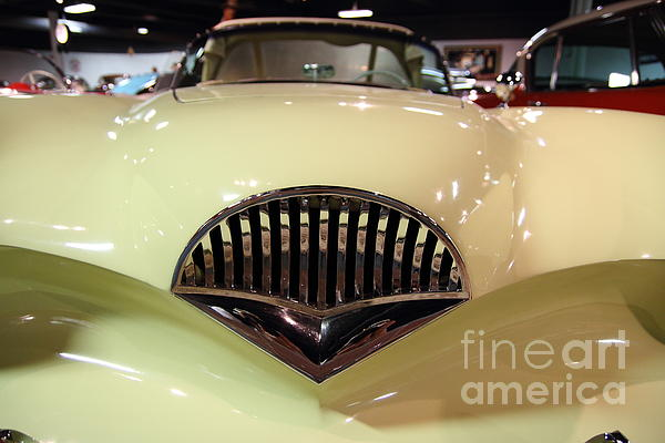 Transportation Photograph - 1954 Kaiser Darrin Grille View by Wingsdomain Art and Photography