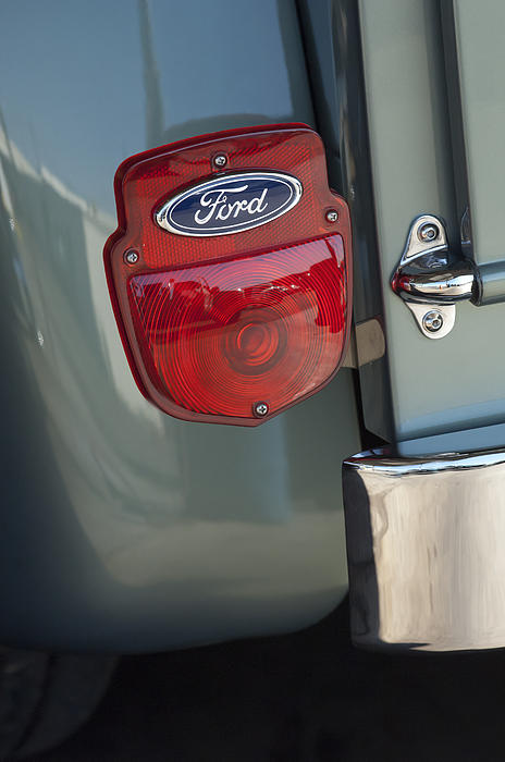 Taillight Photograph - 1956 Ford F-100 Truck Taillight by Jill Reger