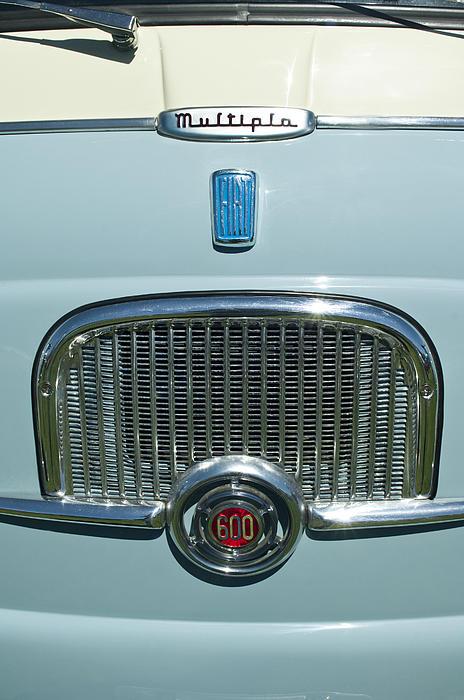 Emblem Photograph - 1959 Fiat Multipia Hood Emblem by Jill Reger