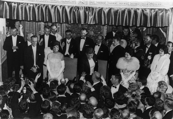 History Photograph - 1960 Inaugural Ball. President Kennedy by Everett