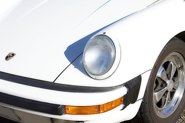 1987 Photograph - 1987 White Porsche 911 Carrera Front by James BO  Insogna