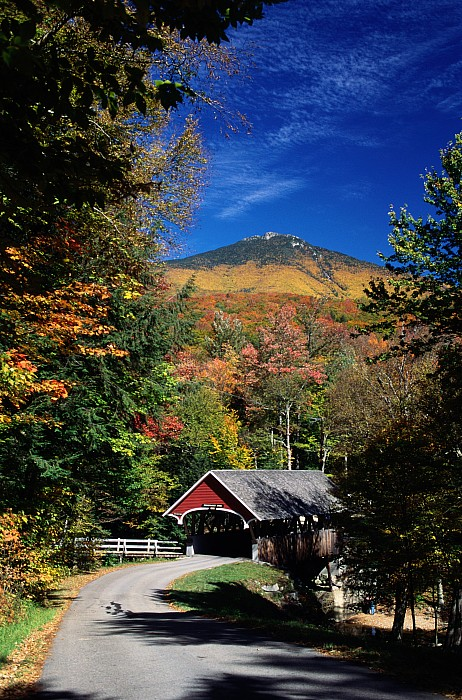 White Mountains Photograph - A Covered Bridge by Richard Nowitz