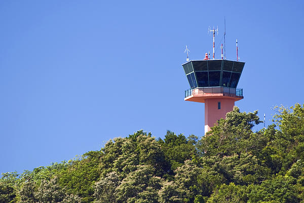 Airport Photograph - Airport Control Tower. by Fernando Barozza