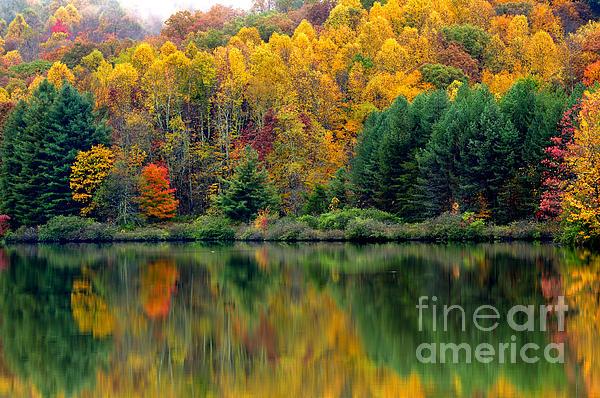 West Virginia Photograph - Autumn Big Ditch Lake by Thomas R Fletcher