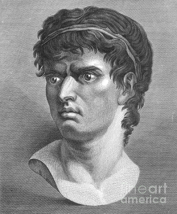 Marcus Junius Brutus The Younger Photograph - Brutus, Roman Politician by Photo Researchers