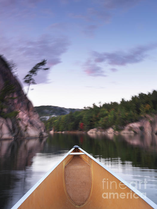 Canoe Photograph - Canoeing In Ontario Provincial Park by Oleksiy Maksymenko