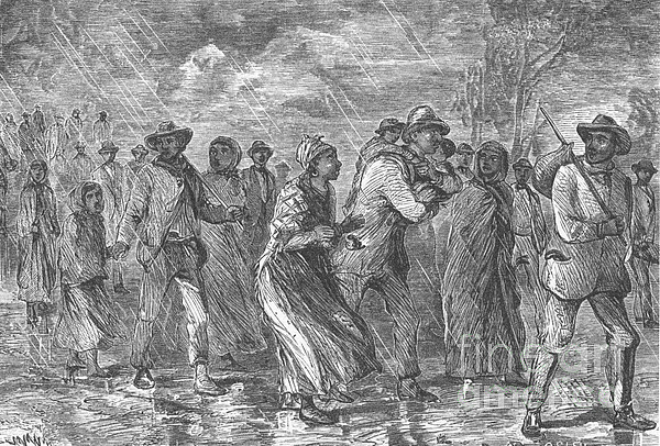 Slavery Photograph - Escaping To Underground Railroad by Photo Researchers