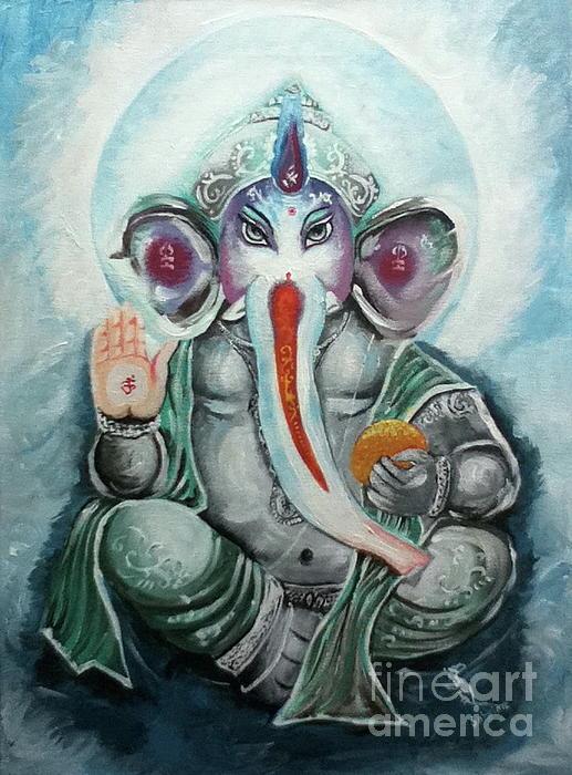 Ganesh Painting - Ganesh  by Sabrina Phillips