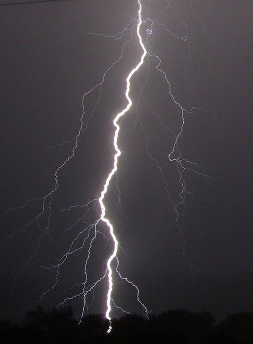 Lightning Photograph - Lightning  by Vonda Barnett