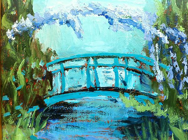 Waterscape Painting - Monets Bridge by Joan Bohls