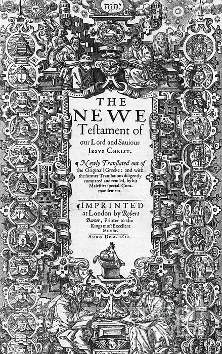 History Photograph - New Testament, King James Bible by Photo Researchers