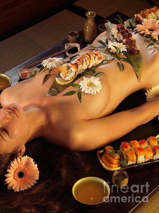 Nyotaimori Photograph - Nyotaimori Body Sushi by Oleksiy Maksymenko