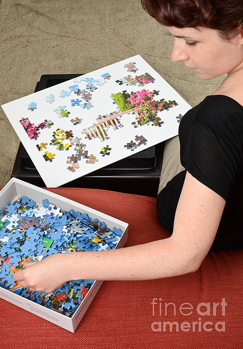 Accommodation Photograph - Puzzle Therapy by Photo Researchers, Inc.