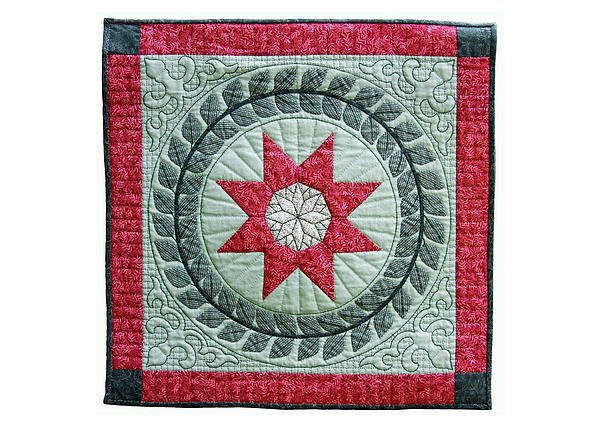 Quilt Tapestry - Textile - Red Star by Deborah King