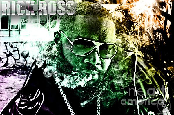 Rick Ross Digital Art - Rick Ross by The DigArtisT