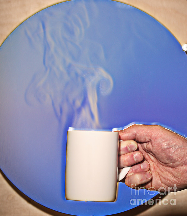Schlieren Photograph - Schlieren Image Of Hot Coffee Cup by Ted Kinsman