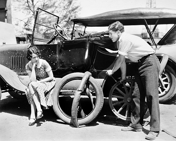 1920s Photograph - Silent Film: Automobiles by Granger
