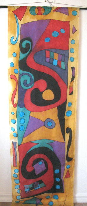 Abstract Design Tapestry - Textile - Silk Banner by Yvonne Feavearyear