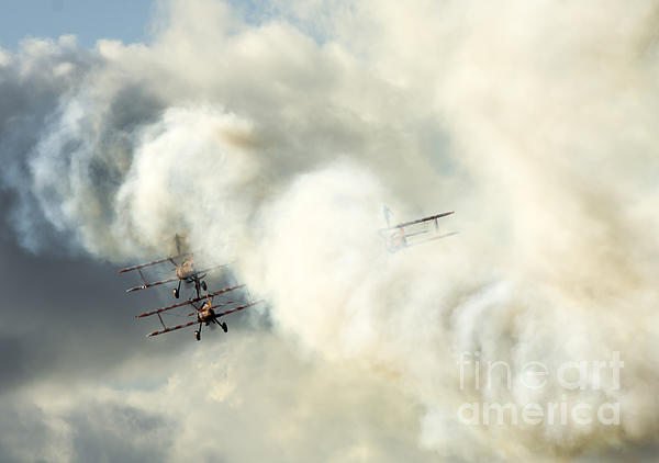 Airshow Photograph - The Ballet Under The Skies by Angel  Tarantella