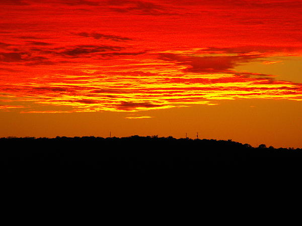 Sunset Photograph - Winter Sunset In Texas by Rebecca Cearley