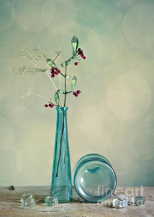 Glass Photograph - Autumn Still Life by Nailia Schwarz