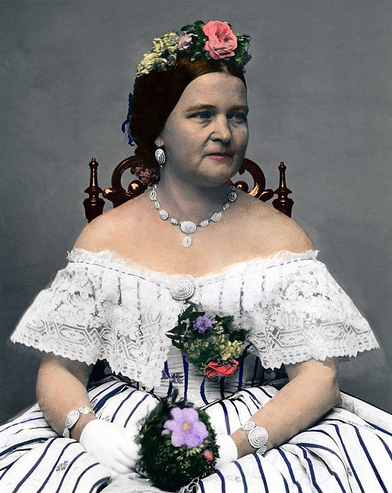 History Photograph - Mary Todd Lincoln 1818-1882, Wife by Everett