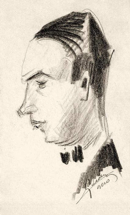 Affairs Drawing - Portrait by Odon Czintos