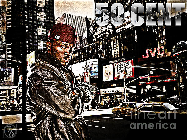 50 Cent Mixed Media - Street Phenomenon 50 Cent by The DigArtisT