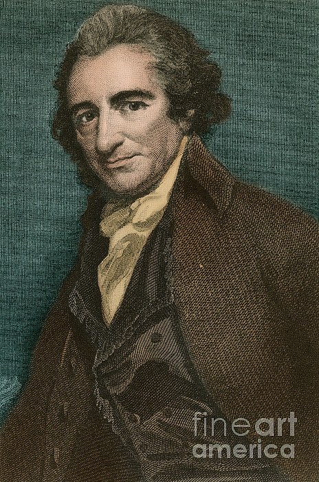 America Photograph - Thomas Paine, American Patriot by Photo Researchers