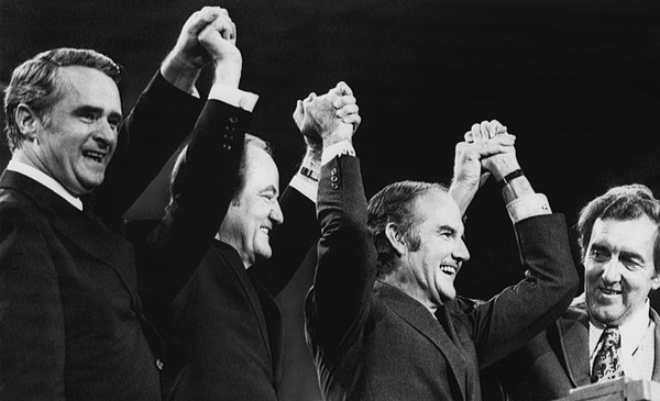 1970s Photograph - Us Elections. From Left Us Senator by Everett