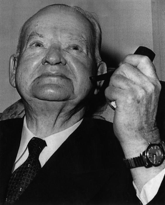1950s Portraits Photograph - Former President Herbert Hoover by Everett