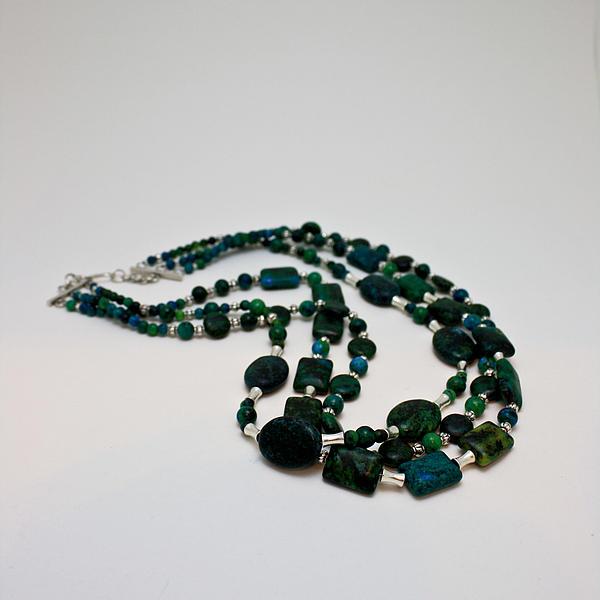 Original Jewelry - 3609 Australian Jasper Triple Strand Necklace by Teresa Mucha