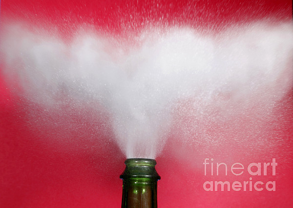 Alcohol Photograph - Champagne Cork Popping by Ted Kinsman