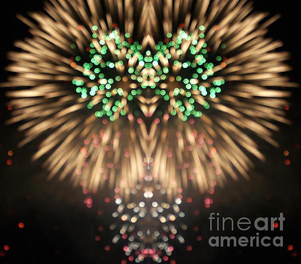4th Digital Art - Firework by Odon Czintos