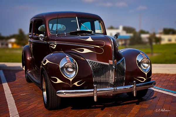 Car Photograph - 49 Ford Two Door Sedan by Christopher Holmes