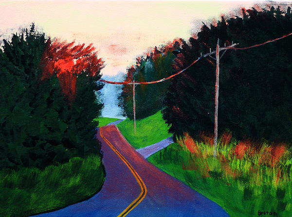 Maine Painting - 4th Of July Sunset by Laurie Breton
