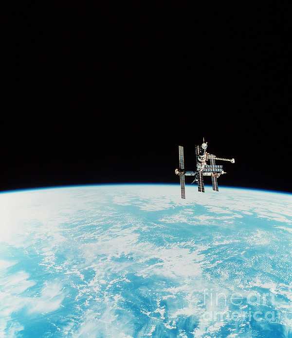 Space Station Photograph - Mir Space Station by Nasa