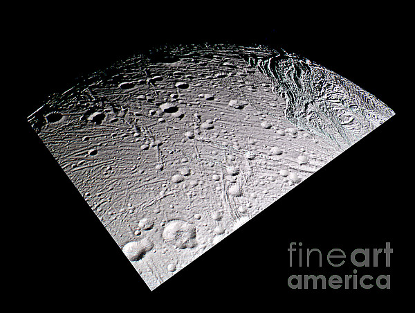 09/03/2005 Photograph - Enceladus Surface by NASA / Science Source