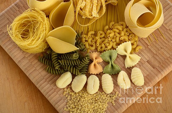 Assorted Photograph - Pasta by Photo Researchers, Inc.