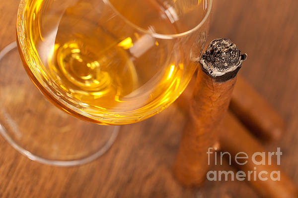 Addiction Photograph - Whisky And Cigars by Sabino Parente