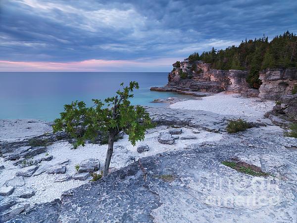 Georgian Bay Photograph - Georgian Bay Cliffs At Sunset by Oleksiy Maksymenko