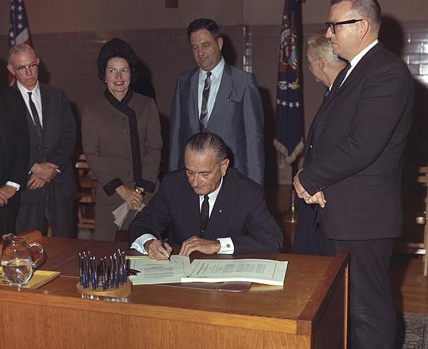 History Photograph - Lbjs Great Society Programs. President by Everett