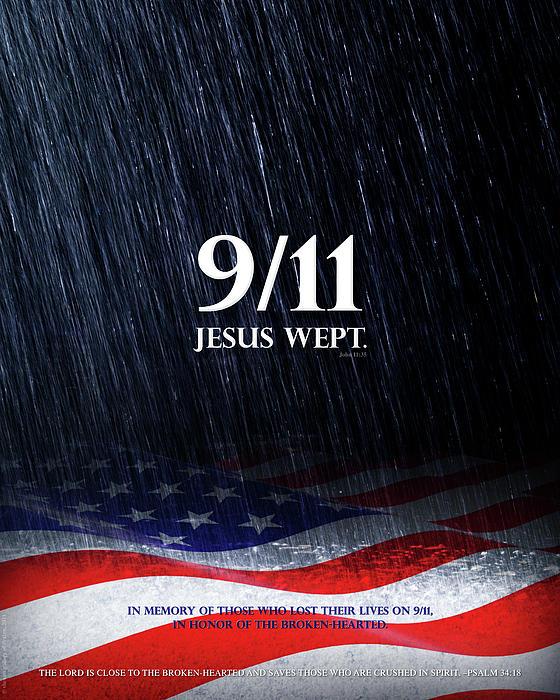 9/11 Mixed Media - 9-11 Jesus Wept by Shevon Johnson