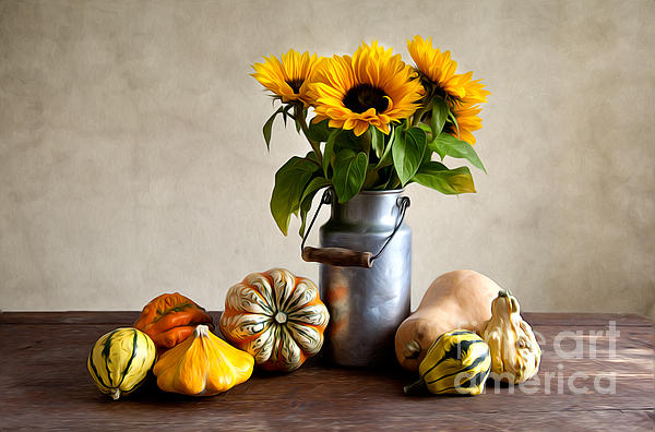Autumn Painting - Autumn by Nailia Schwarz
