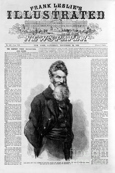 History Photograph - John Brown, American Abolitionist by Photo Researchers