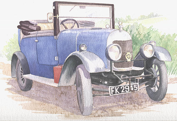 Vintage Car Painting - A Bull-nose Morris by Maureen Carter