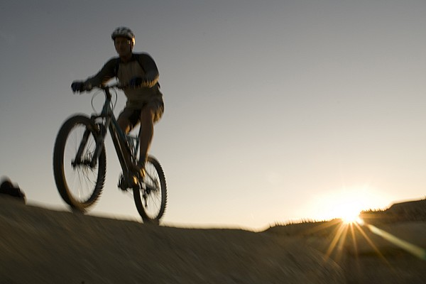 35-40 Years Photograph - A Caucasian Man Mountain Bikes by Bobby Model