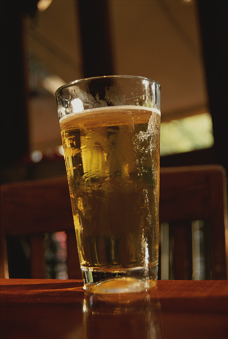 Beer Photograph - A Cool Glass Of Amber Beer by Stephen St. John