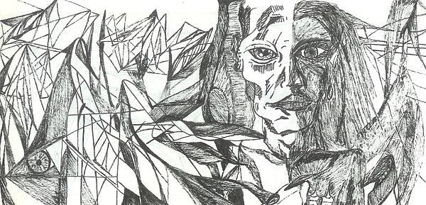 Face Drawing - A Face - Sketch by Robert Meszaros and Nick Ellena